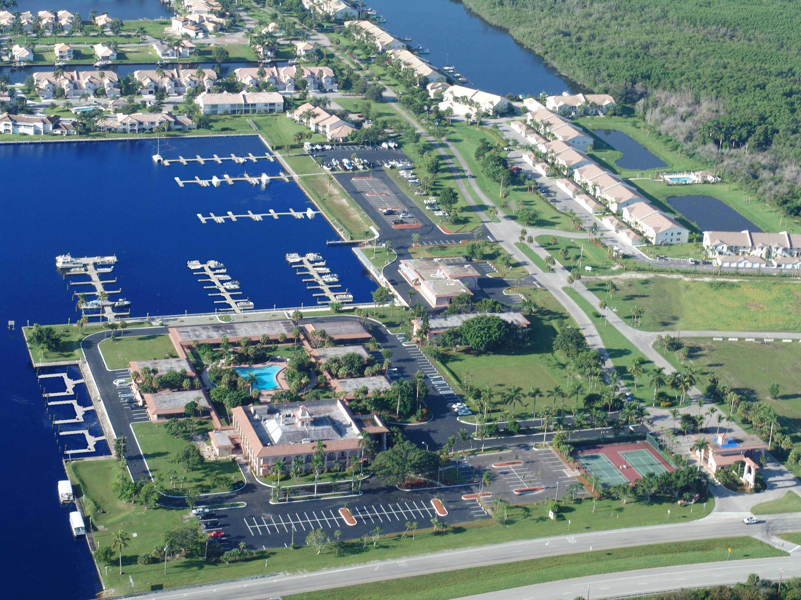Aerial of Marina shot 1